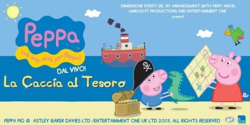 Peppa Pig e la caccia al tesoro il 22 e 23 febbraio 2014 a Roma