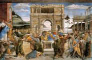 400px-Botticcelli,_Sandro_-_The_Punishment_of_Korah_and_the_Stoning_of_Moses_and_Aaron_-_1481-82