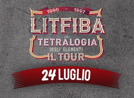 Litfiba: Tetralogia degli Elementi live il 24 luglio 2015 al Rock in Roma all'Ippodromo delle Capannelle